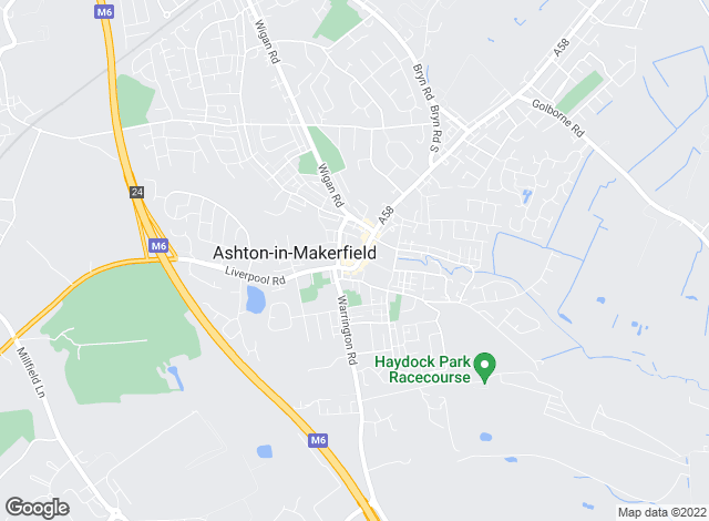 Map for YOUR MOVE, Ashton-In-Makerfield
