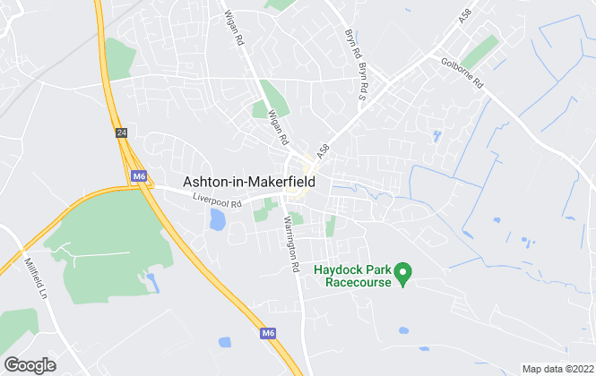 Map for YOUR MOVE Lettings, Ashton-In-Makerfield