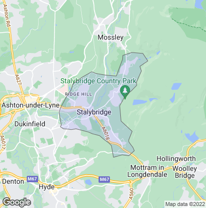 Map of property in Stalybridge