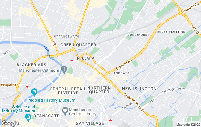 Map for Hudson Bay, Manchester