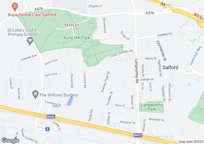 Map for Seedley View Road,