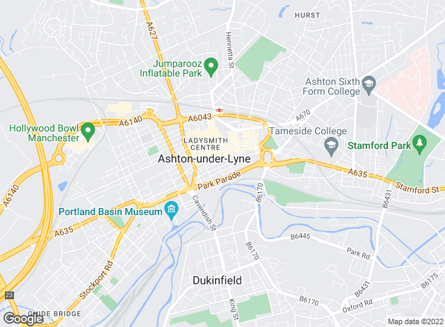 Map for DNA - The Property Hub, Ashton-Under-Lyne