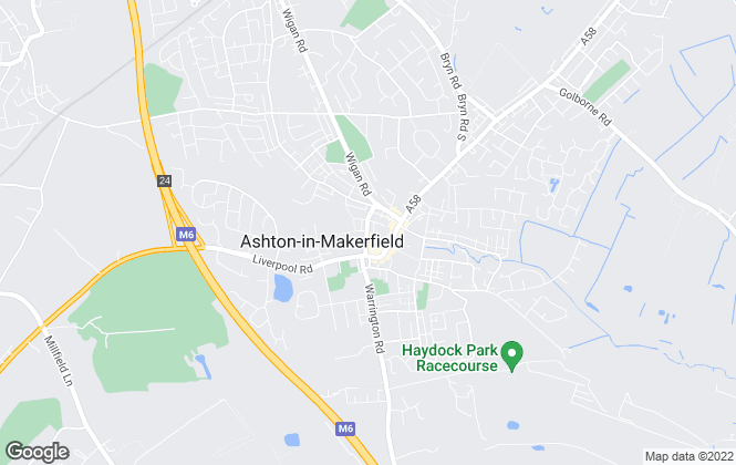 Map for Hunters, Aston-in-Makerfield
