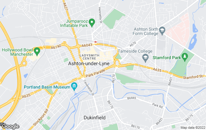 Map for AMF Letting & Property Management, Ashton Under Lyne