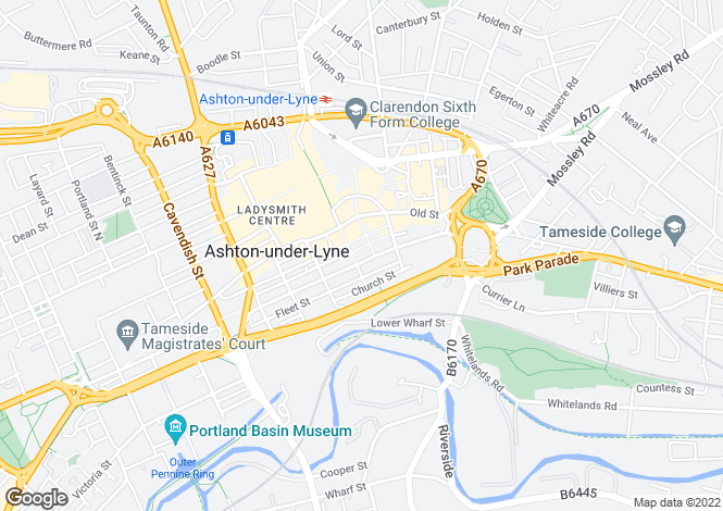 Map for Stamford Street Central,