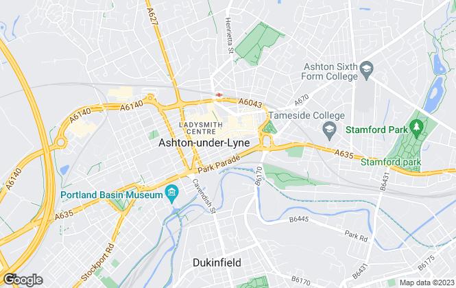 Map for Letting Agency, Ashton-Under-Lyne