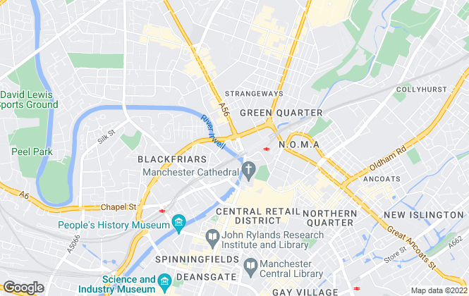 Map for Metro Residential, Manchester