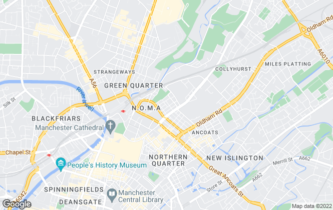 Map for O'Connor Bowden Property Management Manchester Ltd, Manchester (new)