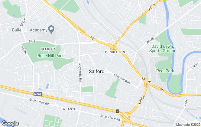 Map for Melon Properties, Salford