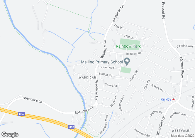 Map for Waddicar Lane,