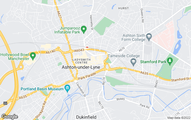 Map for Ryder & Dutton, Ashton-Under-Lyne