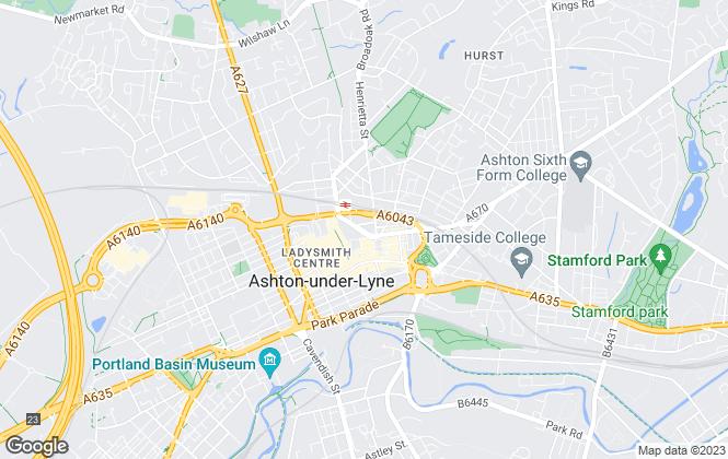 Map for Cordingleys, Ashton-under-Lyne