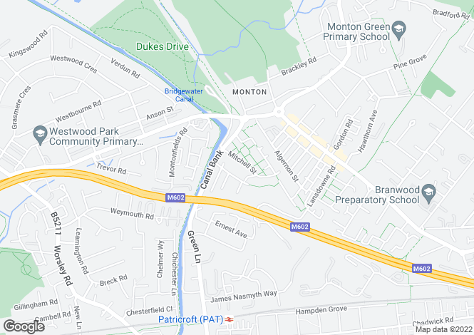 Map for Asbury Court, Monton