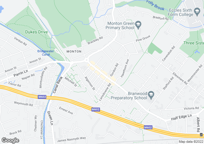 Map for Monton Road, Monton