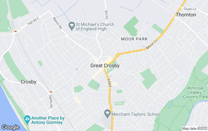 Map for Berkeley Shaw Estate Agents, Crosby
