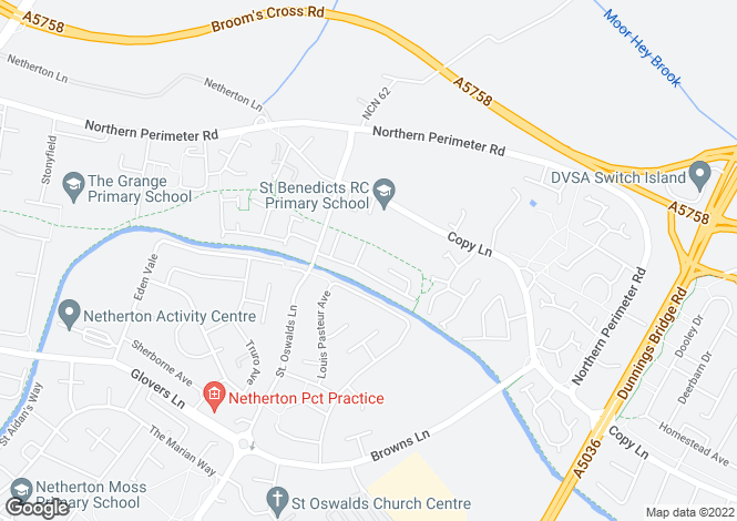 Map for Apollo Way, Netherton, L30