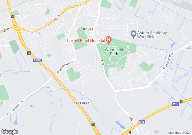 Map for Newby Crescent, Balby, Doncaster DN4