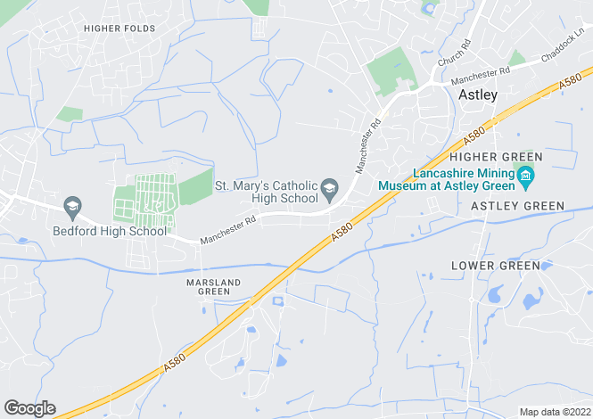 Map for Manchester Road, Astley, MANCHESTER