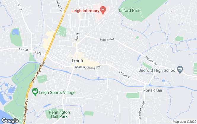 Map for Casa Lettings, Leigh