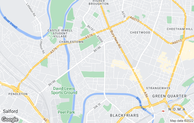 Map for Century 21 UK, Salford