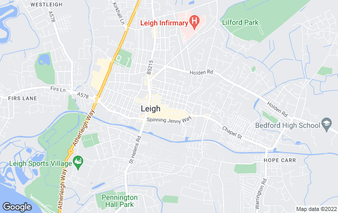 Map for Stringfellows Estate Agents, Leigh