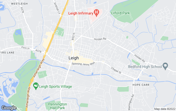 Map for Keenans Estate Agents, Leigh
