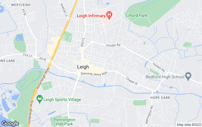 Map for Hunters, Leigh
