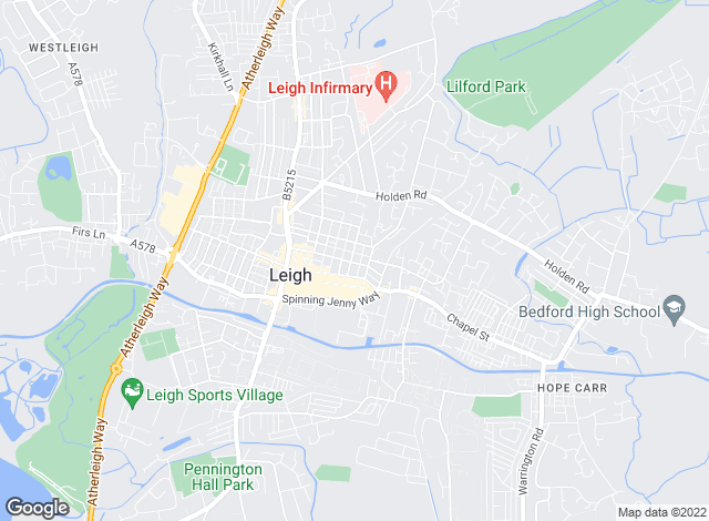 Map for PPM Rentals, Leigh
