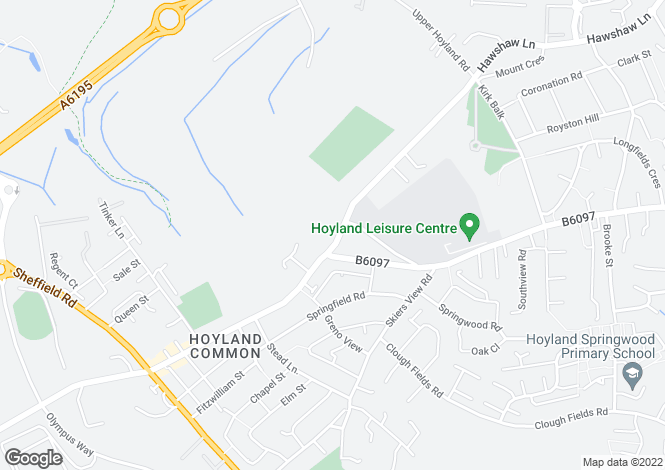 Map for 147 Hoyland Road, Hoyland Common Barnsley S74 0AS