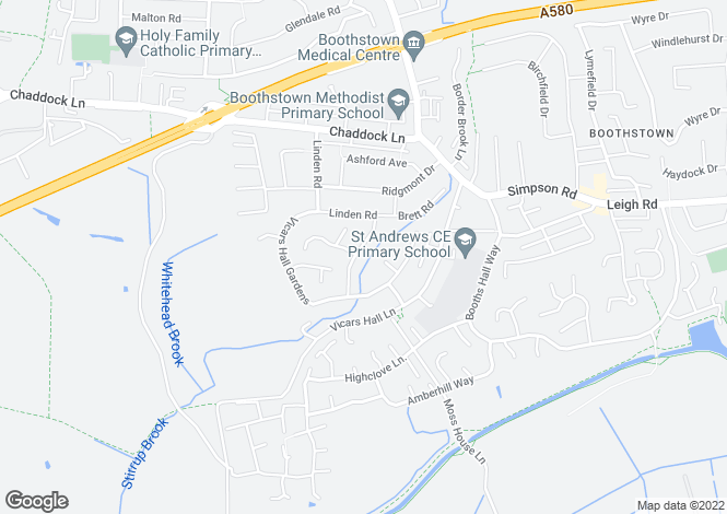 Map for Brookfield Drive, Worsley, Manchester
