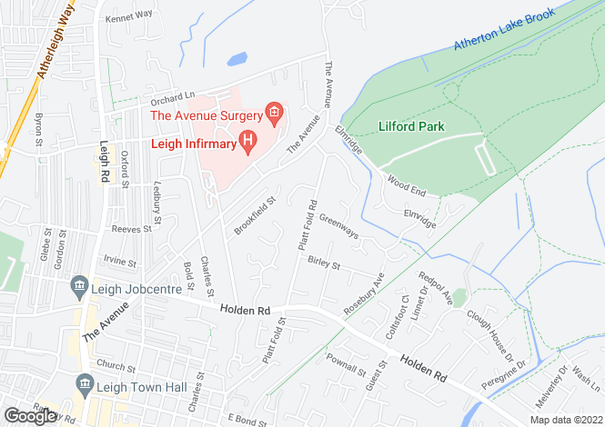 Map for Platt Fold Road, Leigh, Lancashire