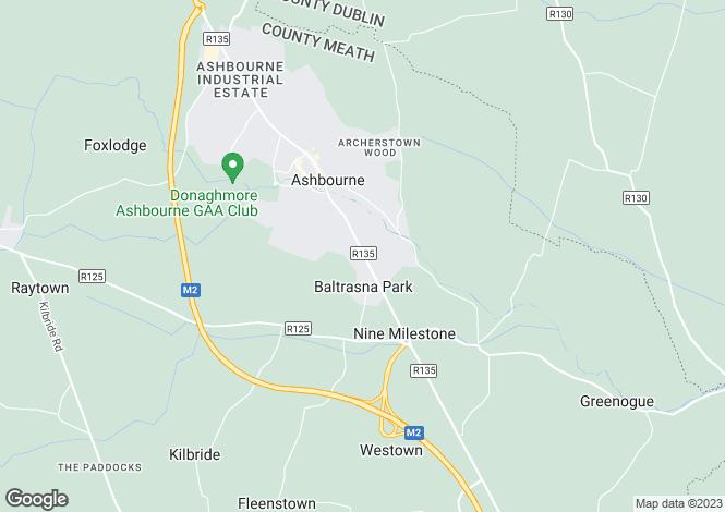Map for Cherry Lane, Baltrasna, Ashbourne, Meath
