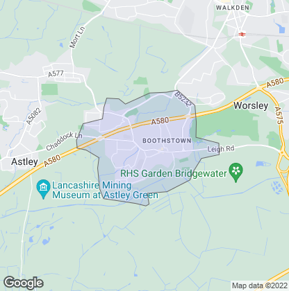 Map of property in Boothstown