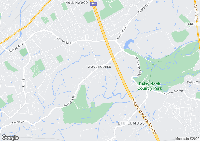 Map for Partridge Road,  Woodhouses,  Manchester,  M35