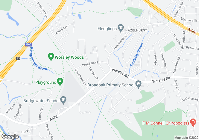 Map for The Hollies, Cavendish Road, Worsley