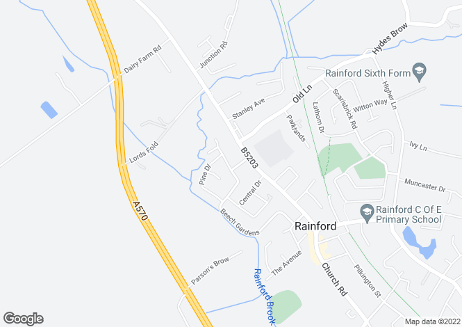 Map for Beech Gardens, Rainford, St Helens, WA11