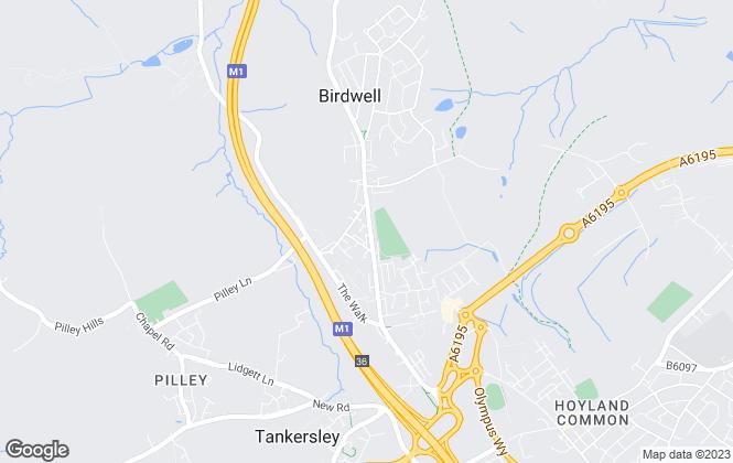 Map for Gates Estates, Barnsley