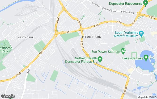 Map for DIAMOND ESTATES PROPERTY LTD, Doncaster