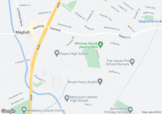 Map for Court Hey; Maghull; L31