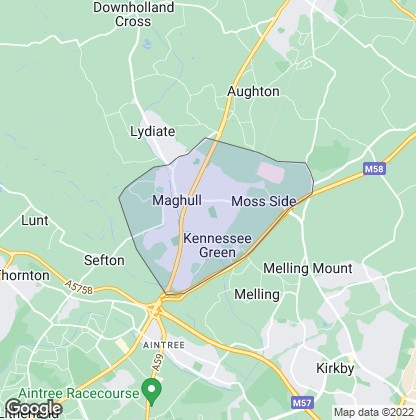 Map of property in Maghull