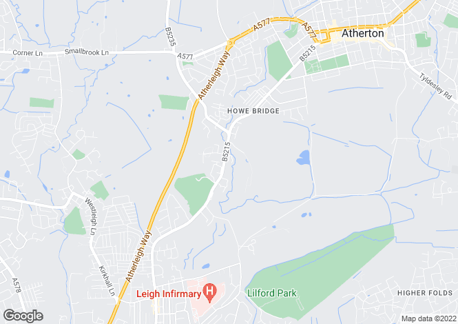 Map for Howe Bridge Close, Atherton, Atherton, Lancashire