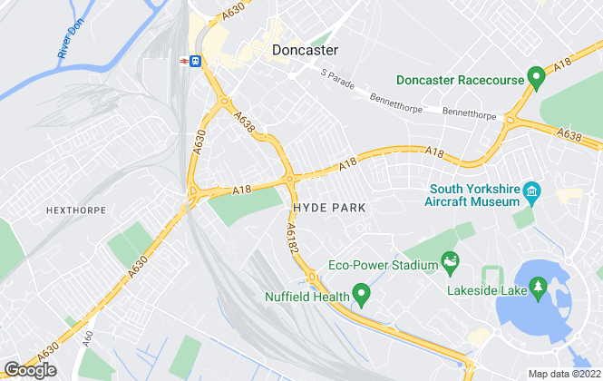 Map for Moss Properties, Doncaster