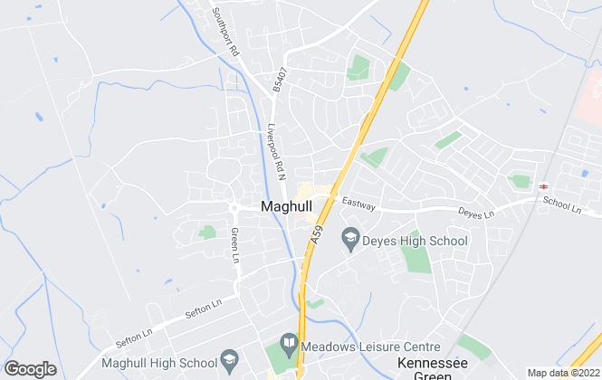 Map for Entwistle Green, Maghull