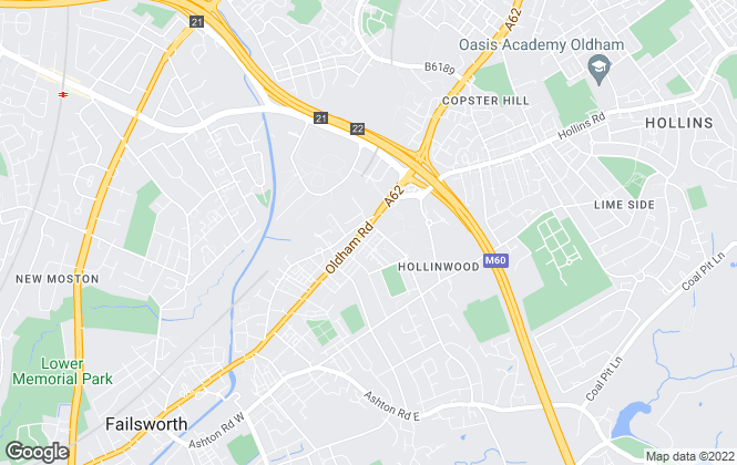 Map for Cousins, Failsworth