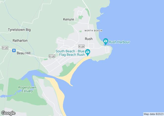 Map for Sea Foam, South Shore Road, Rush, Co Dublin