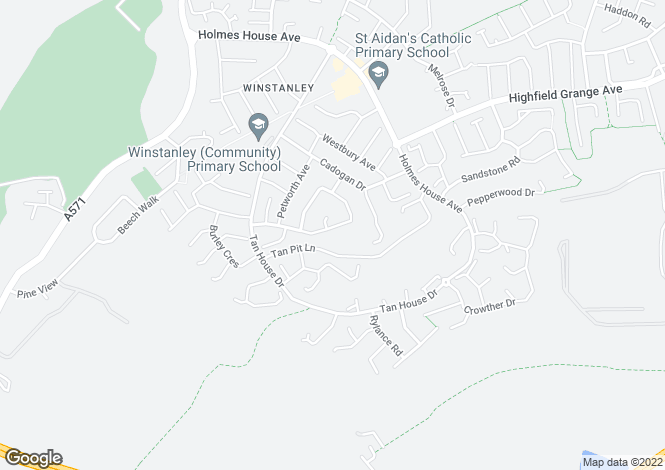 Map for Andover Crescent, Winstanley, Wigan, WN3