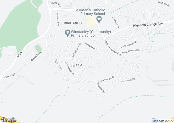 Map for Andover Crescent, Winstanley, Wigan