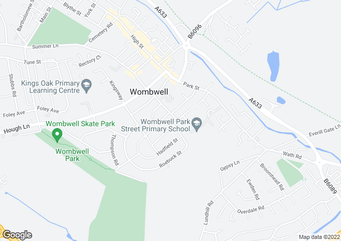 Map for Kelvin Grove Wombwell
