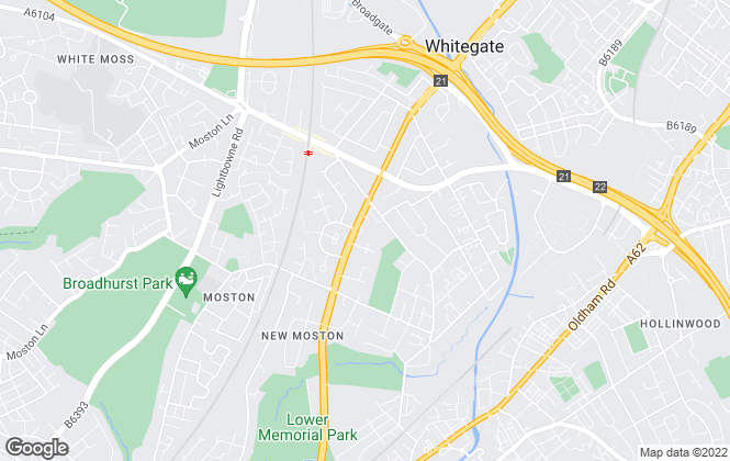 Map for Easy Property, Chadderton