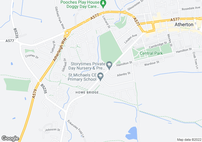 Map for Brookfield Apartments Leigh Road, Atherton, Manchester M46